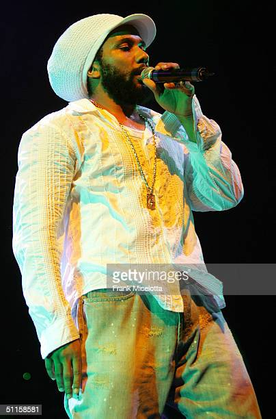 Kymani Marley son of Bob Marley performs onstage at the 'Roots Rock Reggae Tour 2004' at Prospect Park August 10 2004 in New York City
