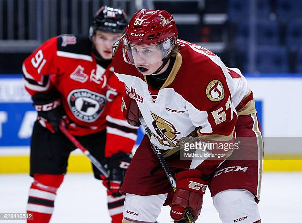 Kynan Berger of the Acadie-Bathurst Titan skates during his QMJHL hockey game at the Centre Videotron on November 9, 2016 in Quebec City, Quebec,...