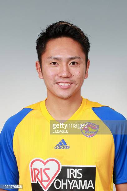 Kyohei Yoshino poses for photographs during the Vegalta Sendai portrait session on January 9, 2020 in Japan.