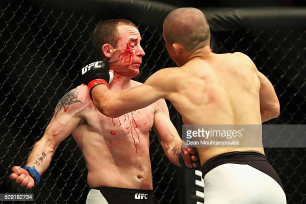 Kyoji Horiguchi of Japan and Neil Seery of Ireland compete in their Flyweight bout during the UFC Fight Night 87 at Ahoy on May 8, 2016 in Rotterdam,...