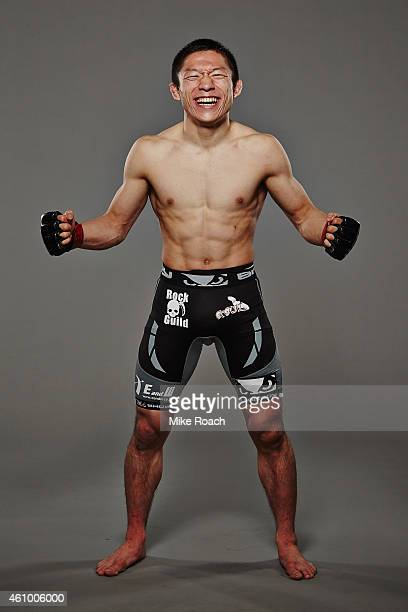 Kyoji Horiguchi poses for a post fight portrait during the UFC 182 event on January 3, 2015 in Las Vegas, Nevada.