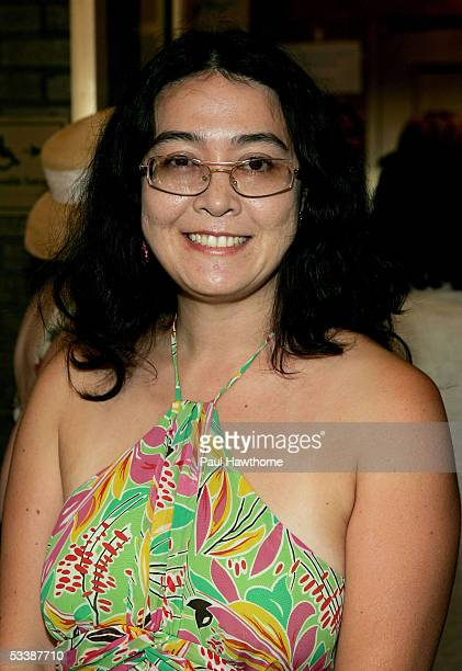 Kyoko Chan Cox daughter of Yoko Ono attends the opening of the musical Lennon at the Broadhurst Theater August 14 2005 in New York City