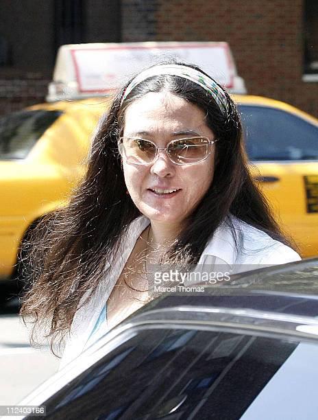 Kyoko Chan Cox during Yoko Ono Sighting Leaving Da Silvano Restaurant July 29 2006 at Da Silvano Resturant in West Village New York City New York...