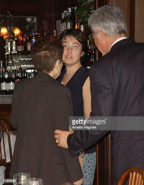 Kyoko Cox daughter of Yoko Ono stops in for lunch at La Goulue restaurant October 3 2001 in New York City