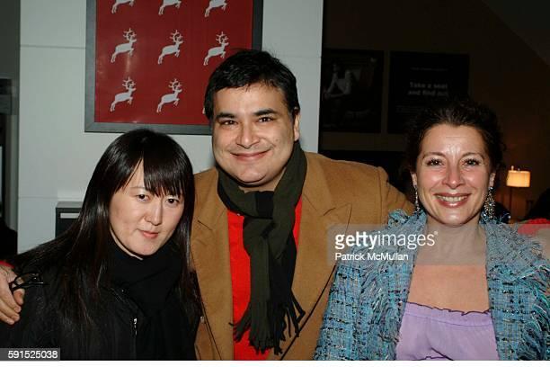 Kyoko Hishida Sanjay Singh and Frederique Beccari attend BoConcept KolDesign Hoilday Party at BoConcept on December 14 2005 in New York City