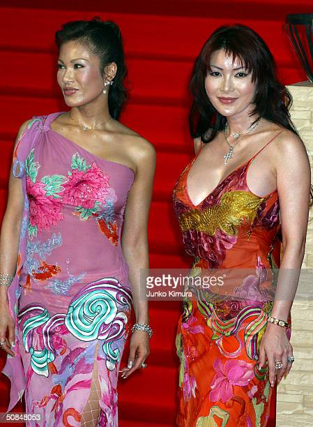Kyoko Kano and Mika Kano attend the 'Troy' Japan premiere at Nippon Budokan May 17 2004 in Tokyo Japan