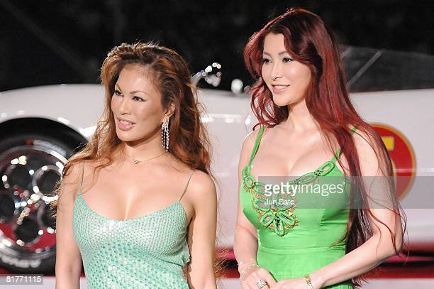 Kyoko Kanou and Mika Kanou attend the 'Speed Racer' Japan Premiere at Tokyo Dome on June 29 2008 in Tokyo Japan The film will open on July 5 2008 in...