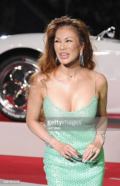 Kyoko Kanou attends the 'Speed Racer' Japan Premiere at Tokyo Dome on June 29 2008 in Tokyo Japan The film will open on July 5 2008 in Japan