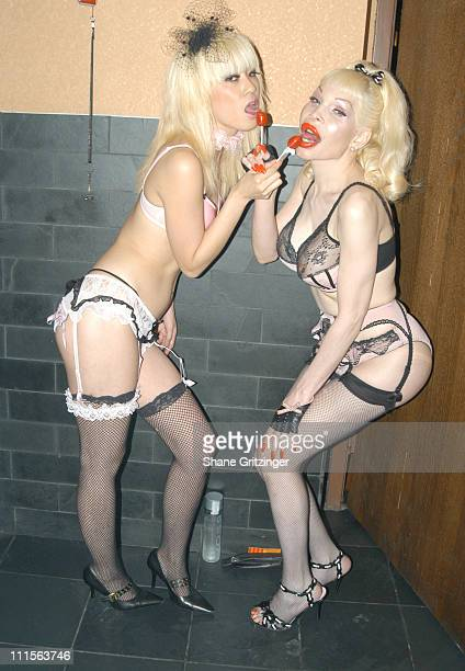 Kyoko Nagami and Amanda Lepore during Amanda Lepore and Harry* Host Charm School University June 27 2005 at Marquee in New York City New York United...
