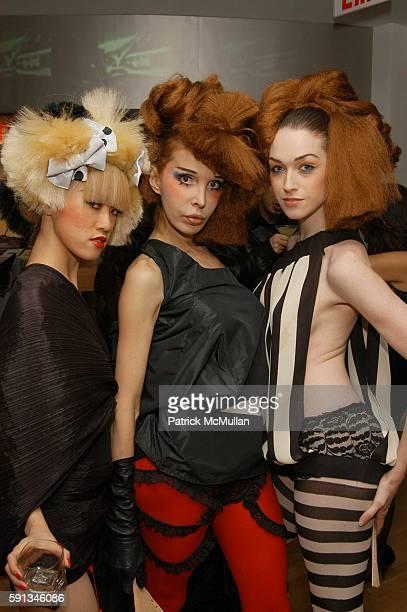 Kyoko Nagami Sophia Lamar and Jamie Clayton attend Eiji Salon grand opening reception at Eiji Salon on February 1 2005 in New York City