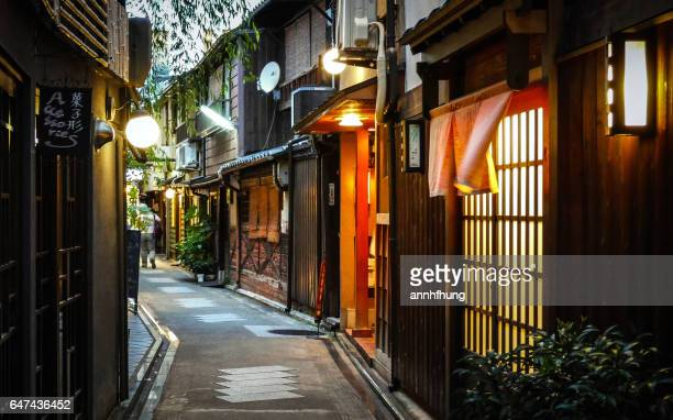 kyoto alley - kyoto prefecture stock pictures, royalty-free photos & images