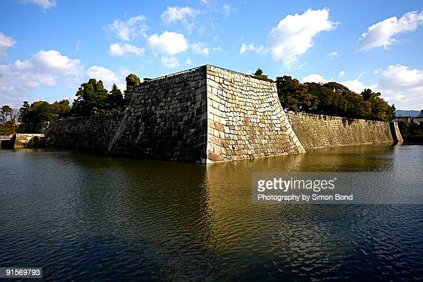 kyoto castle moat. - moat stock pictures, royalty-free photos & images