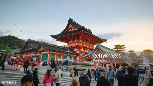 kyoto, japan at kiyomizu-dera temple. - kiyomizu dera temple stock photos and pictures