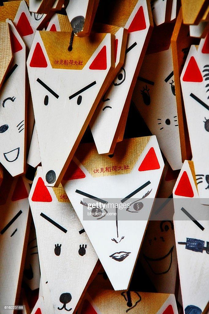 Kyoto, Japan - September 28, 2009 - Ema, Fushimi Inari Taisha : Stockfoto