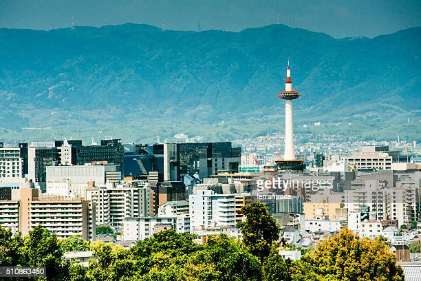 kyoto skyline japan - kyoto prefecture stock pictures, royalty-free photos & images
