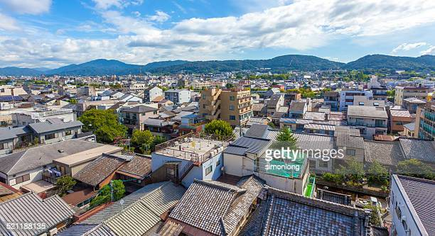 kyoto skyline - uji kyoto stock pictures, royalty-free photos & images