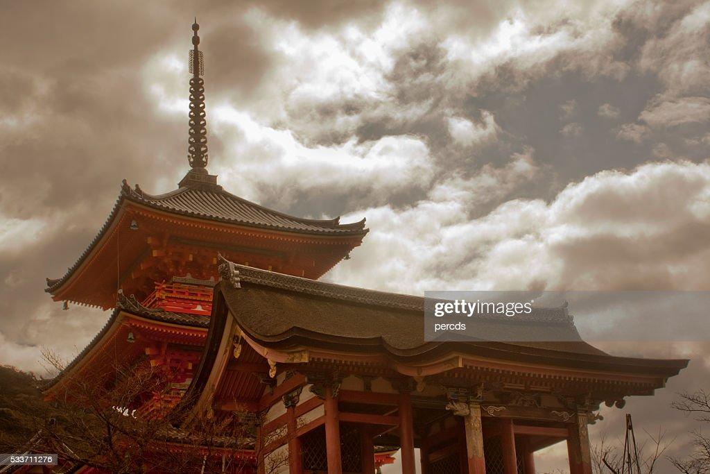 Tempio di Kyoto, architettura tradizionale, destinazione di viaggio. : Foto stock