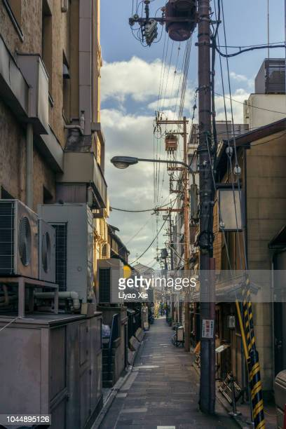 kyoto traditional alley - 路地 ストックフォトと画像