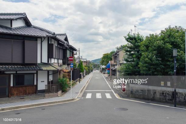 kyoto traditional street - 住宅地 ストックフォトと画像