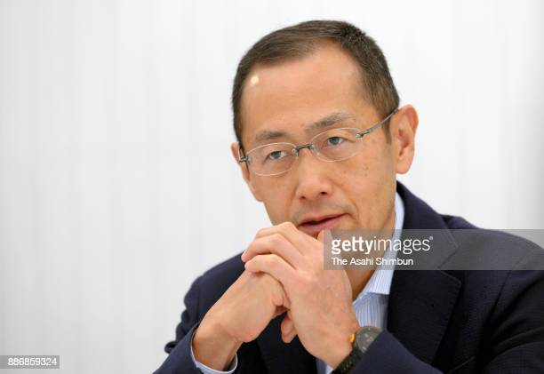 Kyoto University Center for iPS Research and Application Director Shinya Yamanaka speaks during the Asahi Shimbun interview on December 5 2017 in...