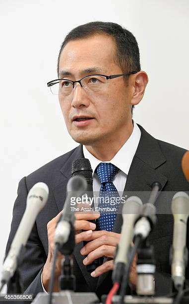 Kyoto University professor Shinya Yamanaka speaks at a news conference on September 12 2014 in Kyoto Japan Japanese researchers conducted the world's...