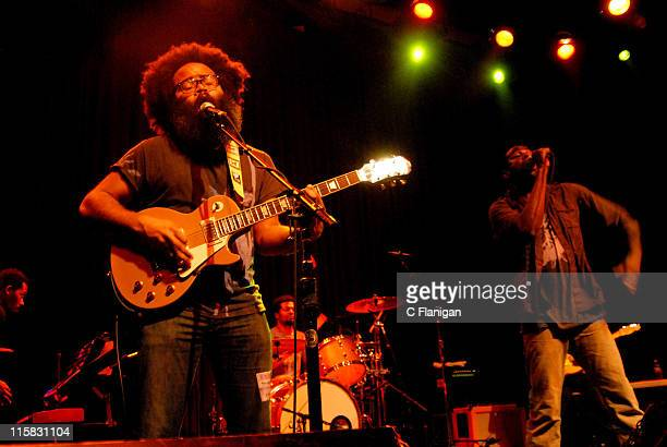 Kyp Malone and Tunde Adepimbe of TV on the Radio during TV on the Radio and Noisettes in Concert at the Fillmore March 28 2007 at Fillmore in San...