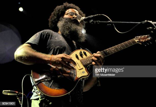 Kyp Malone of Rain Machine performs at the Fox Theater on November 8 2009 in Oakland California