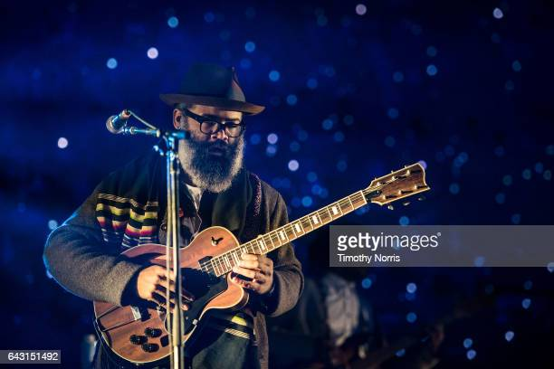 Kyp Malone of TV on the Radio performs during Air Style Los Angeles 2017 at Exposition Park on February 19 2017 in Los Angeles California