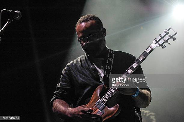 Kyp Malone of TV on the Radio performs during the 12th Annual Afropunk Brooklyn Festival at Commodore Barry Park on August 27 2016 in New York City