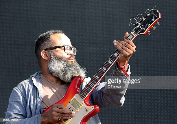 Kyp Malone of TV on the Radio performs during the 2014 Bottlerock Music Festival At Napa Valley Expo on May 30 2014 in Napa California