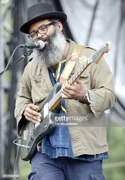 Kyp Malone of TV on the Radio performs during the Pemberton Music and Arts Festival at on July 19 2014 in Pemberton British Columbia