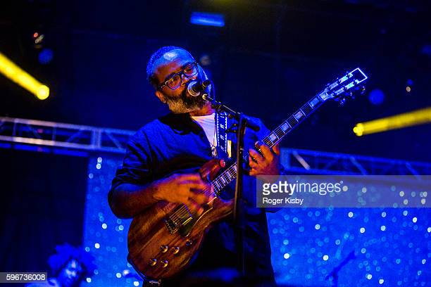 Kyp Malone of TV on the Radio performs onstage at Afropunk Festival at Commodore Barry Park on August 27 2016 in Brooklyn New York
