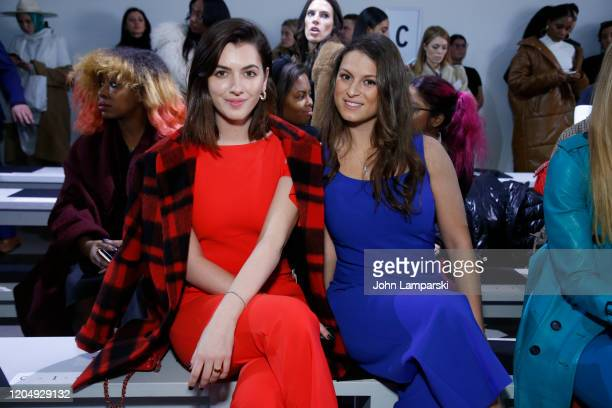 Kyra Kennedy and Cara KennedyCuomo attend the Chiara Boni front row during New York Fashion Week The Shows at Gallery II at Spring Studios on...