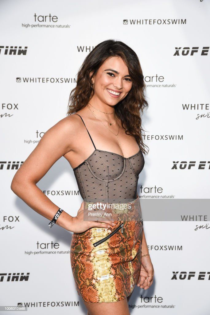 Kyra Santoro attends White Fox Boutique Swimwear Launch Of 100% Salty at Catch on July 26, 2018 in West Hollywood, California.