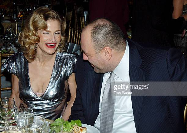 Kyra Sedgwick and James Gandolfini attend Moving Image Salutes John Travolta at the Waldorf Astoria Hotel in New York City on Sunday November 5 2004