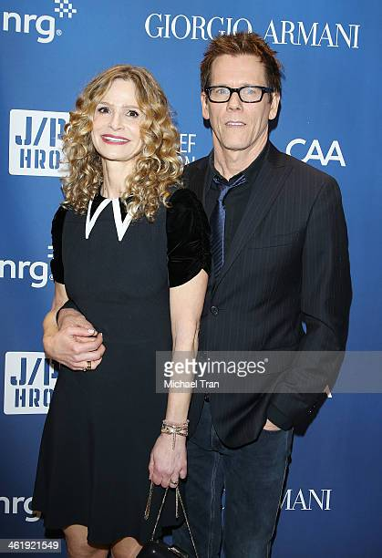 Kyra Sedgwick and Kevin Bacon arrive at the 3rd Annual Sean Penn Friends Help Haiti Home Gala benefiting J/P HRO presented By Giorgio Armani held at...