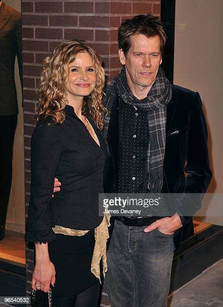 Kyra Sedgwick and Kevin Bacon attend Hermes Men's Store opening on Madison Avenue on February 9, 2010 in New York City.