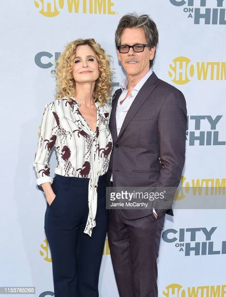 Kyra Sedgwick and Kevin Bacon attend Showtime's City On A Hill New York Premiere at SVA Theater on June 04 2019 in New York City