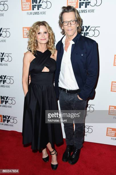 Kyra Sedgwick and Kevin Bacon attend the 55th New York Film Festival presentation of Joan Didion The Center Will Not Hold at Alice Tully Hall on...