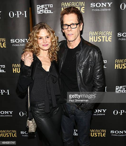 Kyra Sedgwick and Kevin Bacon attend the 'American Hustle' screening after party at Monkey Bar on December 6 2013 in New York City