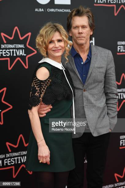 Kyra Sedgwick and Kevin Bacon attend the world premiere of Story of a Girl during the 71th Edinburgh International Film Festival at Cineworld on June...