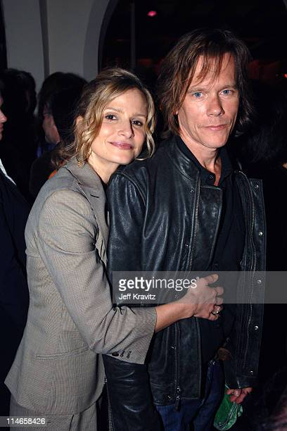 Kyra Sedgwick and Kevin Bacon during HBO's Annual PreGolden Globes Private Reception at Chateau Marmont in Los Angeles California United States