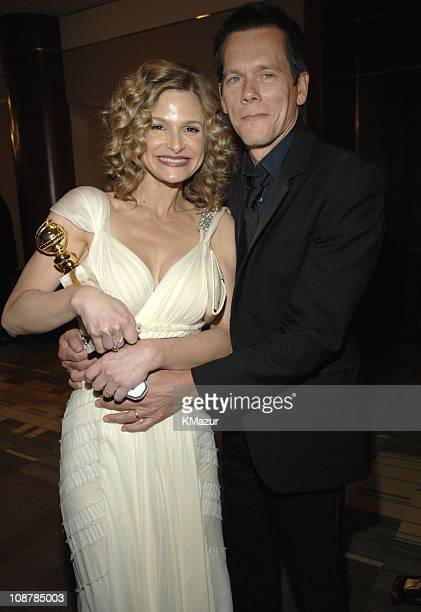 Kyra Sedgwick and Kevin Bacon during In Style and Warner Bros. 2007 Golden Globe After Party - Inside at Beverly Hilton Hotel in Beverly Hills,...