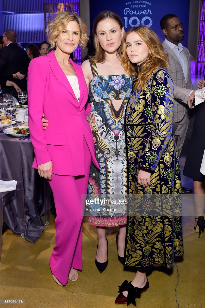 Kyra Sedgwick, Anna Paquin and Zoey Deutch at The 26th Annual Women In Entertainment Breakfast presented in partnership with FIJI Water at Milk Studios on December 6, 2017 in Los Angeles, California.