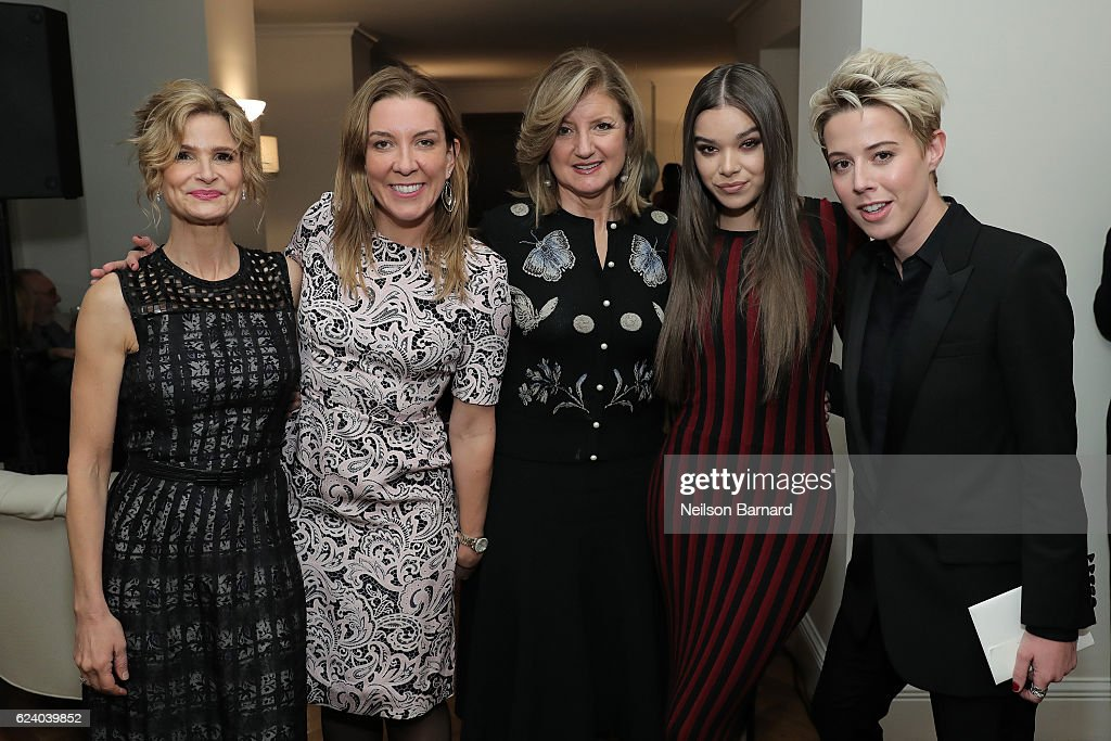 Kyra Sedgwick, Antonia Romeo, Arianna Huffington, Hailee Steinfeld and Sophie Watts attend 'A Conversation On Trailblazers: Women In The Workplace with Ariana Huffington & Sophie Watts' hosted by Antonia Romeo, British Consul General to New York at the British Residence on November 17, 2016 in New York City.