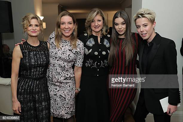 Kyra Sedgwick Antonia Romeo Arianna Huffington Hailee Steinfeld and Sophie Watts attend A Conversation On Trailblazers Women In The Workplace with...