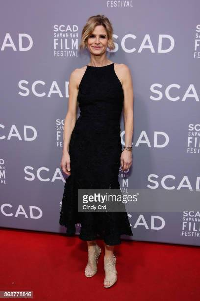 Kyra Sedgwick attends Spotlight Award ceremony at Trustees Theater during 20th Anniversary SCAD Savannah Film Festival on October 31, 2017 in...