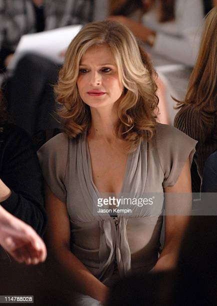 Kyra Sedgwick during Olympus Fashion Week Spring 2007 J Mendel Front Row and Backstage at The Promenade Bryant Park in New York City New York United...