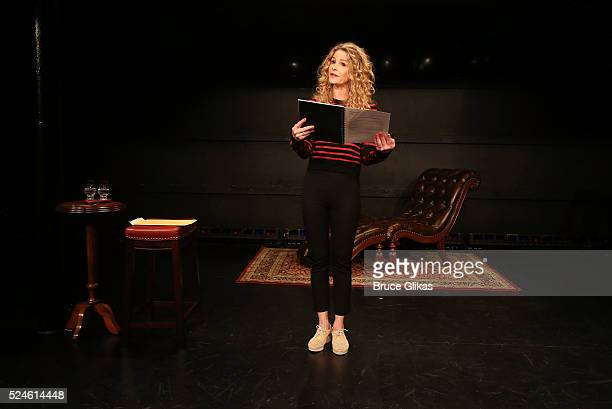 Kyra Sedgwick is the latest actor to perform in the new play 'White Rabbit Red Rabbit' at The Westside Theatre on April 25 2016 in New York City