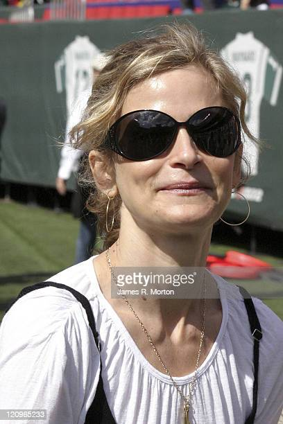 Kyra Sedgwick star of The Closer was on hand to see the Indianapolis Colts defeated the New York Jets by the score of 31 to 28 at the Meadowlands...